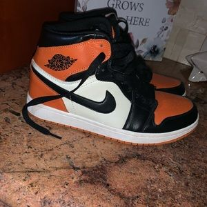 Air Jordan 1 Shattered Backboard sz 11 orange blk